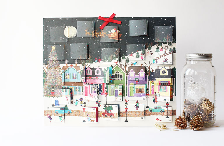 calendrier avent galison winter wonderland