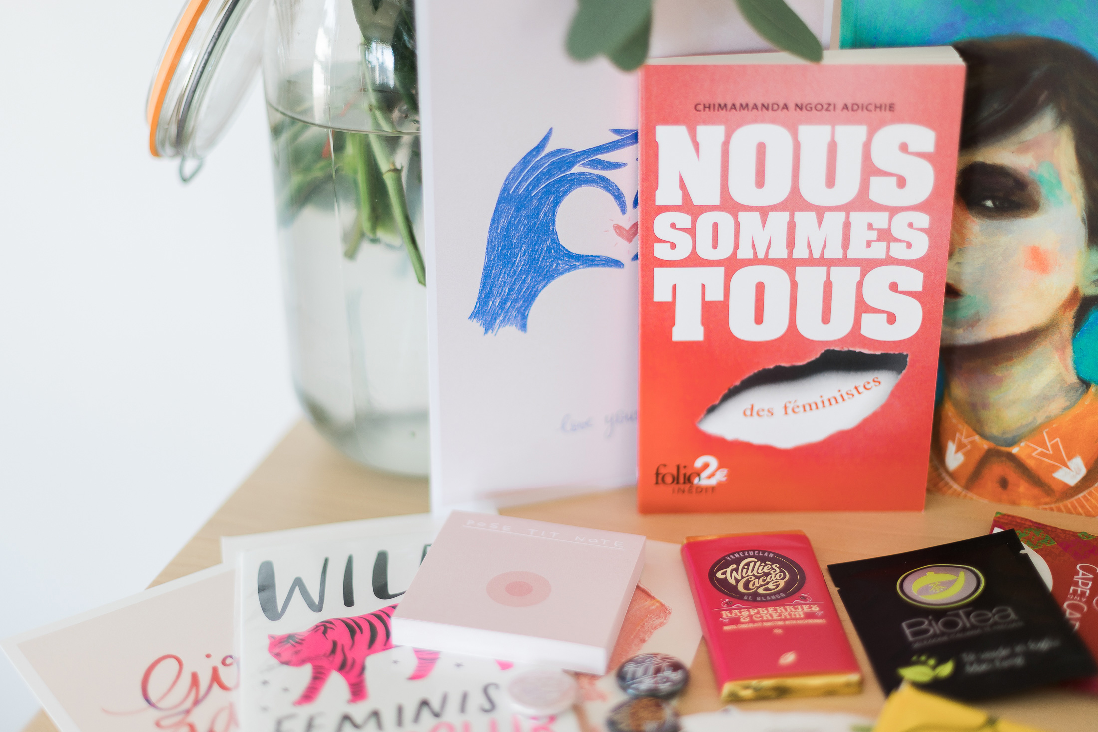 box livres féministe go girls exploratology x la mouette