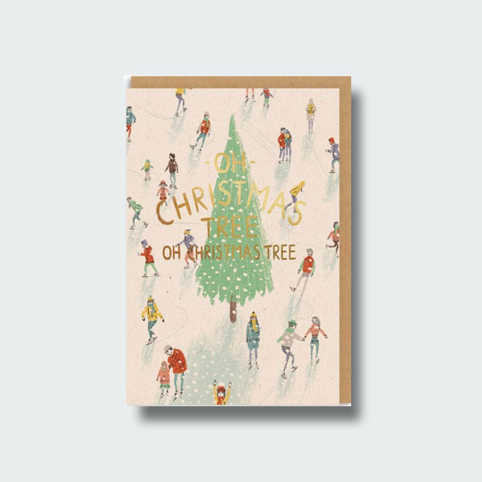 Carte de voeux Oh christmas tree, Ohh Deer